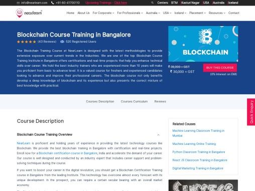 Blockchain Training in Bangalore   Nearlearn