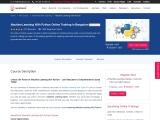 Machine Learning Python Classroom Training Bangalore