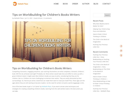 Tips on Worldbuilding for Children's Books Writers by Nelibeth Plaza