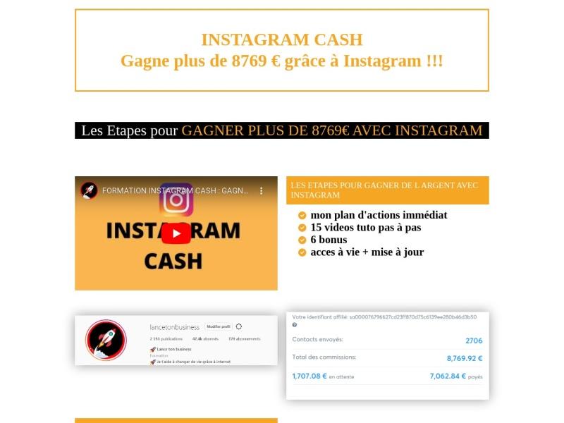 gagne 8796 euros avec instagram avec des photos