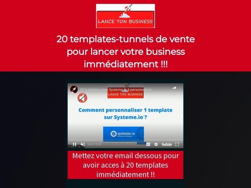 20 templates de tunnel de vente pour systeme.io