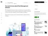 You need to know about Fleet Management Software