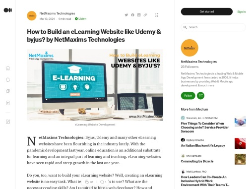 How to Build an eLearning Website like Udemy & byjus? by NetMaxims Technologies