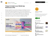 Things to include in your Mobile App Maintenance Plan