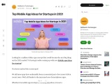 Top Mobile App Ideas for Startups in 2021