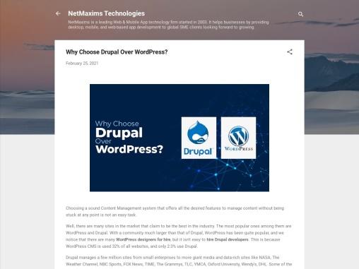 Why Choose Drupal Over WordPress? Website Development Agency