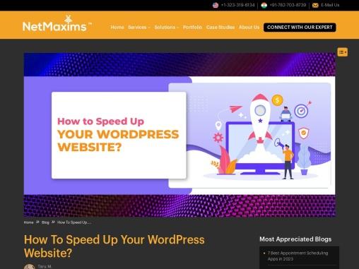 How To Speed Up Your WordPress Website? WordPress Website Development Company