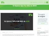 10 Quick Tips For SEO In 2018 | Digital Marketing Gold Coast