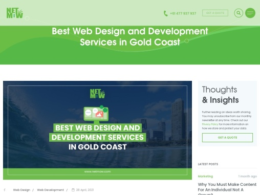 Best Web Design and Development Services in Gold Coast