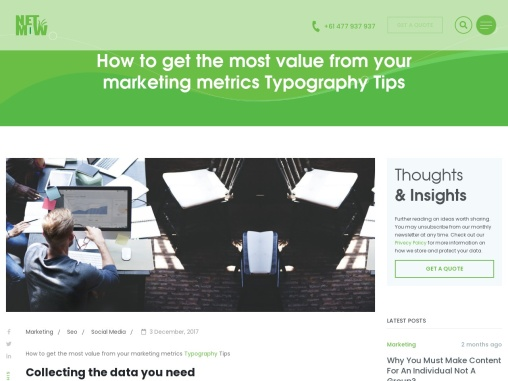 How to get the most value from your marketing metrics Typography Tips?