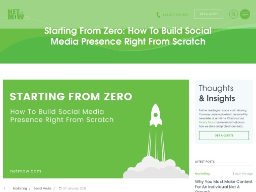 Starting From Zero: How To Build Social Media Presence Right From Scratch