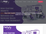 How Can Custom Website Development Services Increase Sales for Your Business?