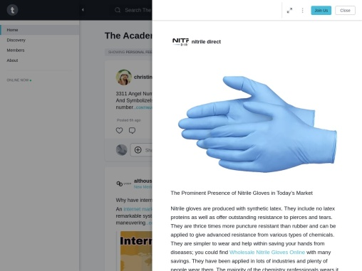 The Prominent Presence of Nitrile Gloves in Today's Market