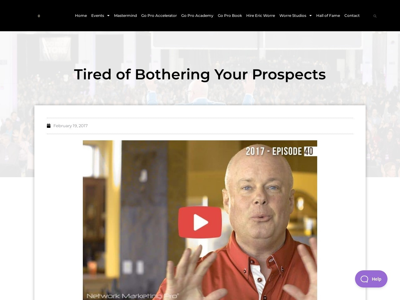 Tired of Bothering Your Prospects