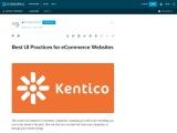Best UI Practices for eCommerce Websites