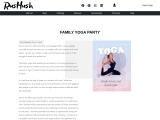 Family yoga party – sunset can be a daily party time