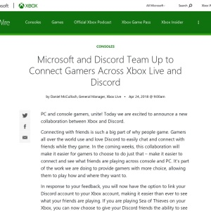 Microsoft and Discord Team Up to Connect Gamers Across Xbox Live and Discord - Xbox Wire