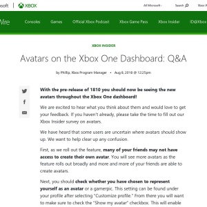 Avatars on the Xbox One Dashboard: Q&A - Xbox Wire