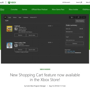 New Shopping Cart feature now available in the Xbox Store! - Xbox Wire