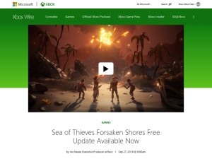 Sea of Thieves Forsaken Shores Free Update Available Now - Xbox Wire