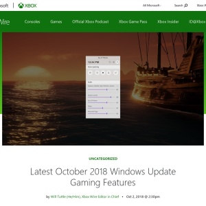Latest October 2018 Windows Update Gaming Features - Xbox Wire