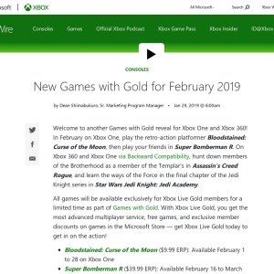 New Games with Gold for February 2019 - Xbox Wire