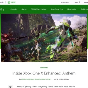 Inside Xbox One X Enhanced: Anthem - Xbox Wire