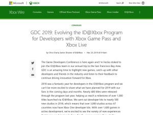 GDC 2019: Evolving the ID@Xbox Program for Developers with Xbox Game Pass and Xbox Live - Xbox Wire