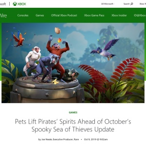 Pets Lift Pirates' Spirits Ahead of October's Spooky Sea of Thieves Update - Xbox Wire