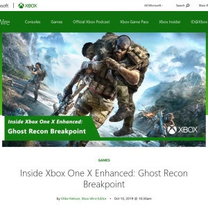 Inside Xbox One X Enhanced: Ghost Recon Breakpoint - Xbox Wire