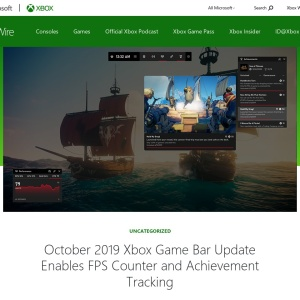 October 2019 Xbox Game Bar Update Enables FPS Counter and Achievement Tracking - Xbox Wire