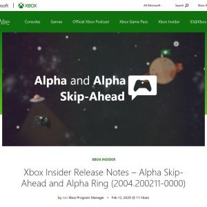 Xbox Insider Release Notes - Alpha Skip-Ahead and Alpha Ring (2004.200211-0000) - Xbox Wire
