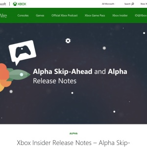 Xbox Insider Release Notes - Alpha Skip-Ahead and Alpha (2008.200723-0000) - Xbox Wire