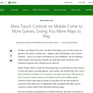 Xbox Touch Controls on Mobile Come to More Games, Giving You More Ways to Play - Xbox Wire