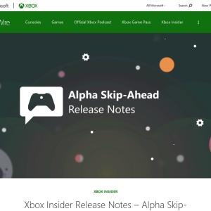 Xbox Insider Release Notes - Alpha Skip-Ahead (2108.210303-1900) - Xbox Wire