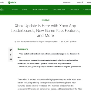 Xbox Update is Here with Xbox App Leaderboards, New Game Pass Features, and More - Xbox Wire