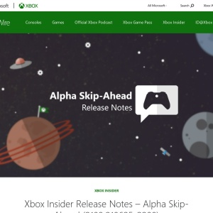 Xbox Insider Release Notes - Alpha Skip-Ahead (2108.210625-2200) - Xbox Wire