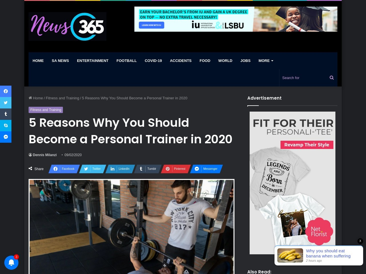 5 Reasons Why You Should Become a Personal Trainer in 2020News365.co.za