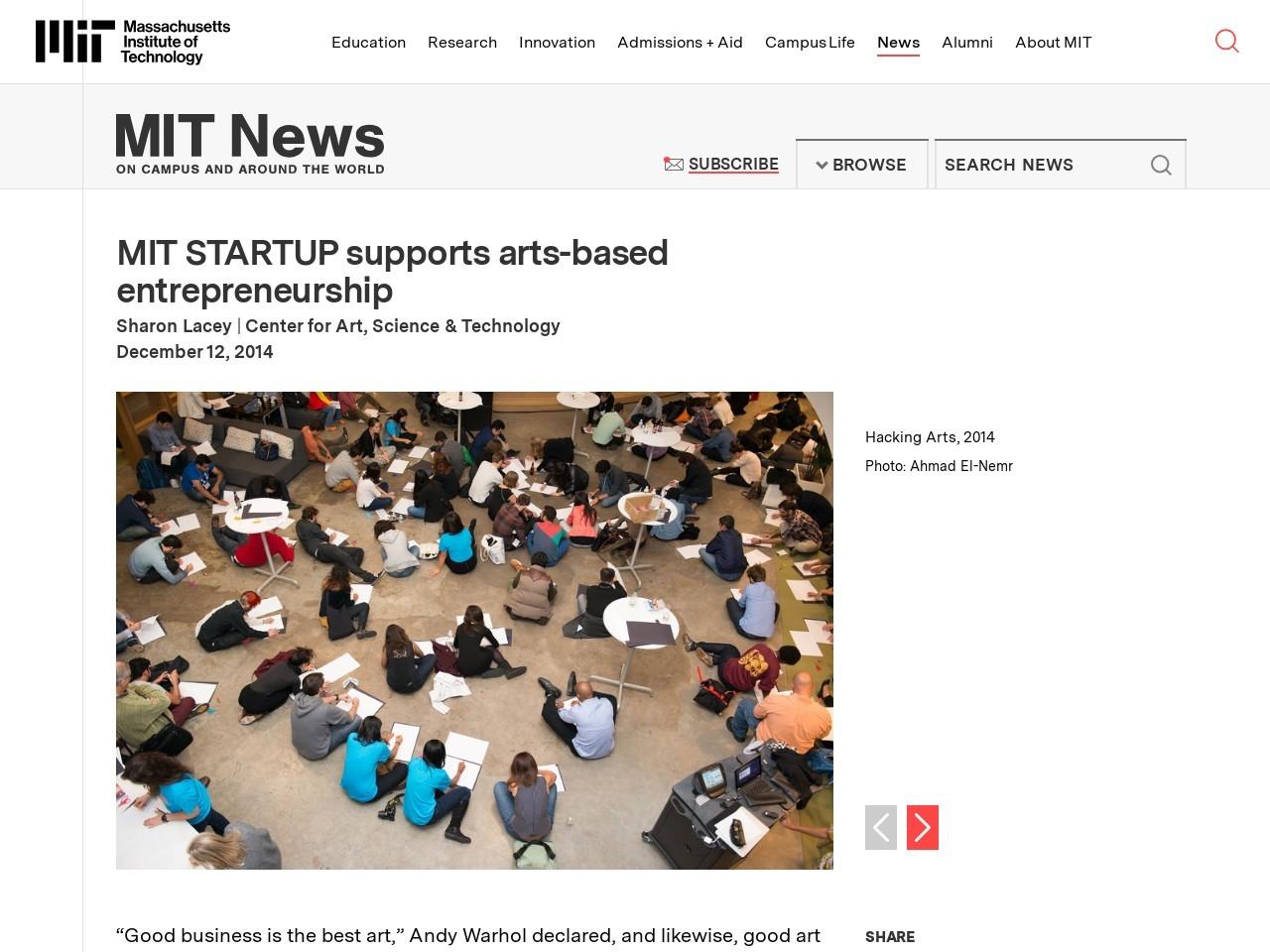 MIT STARTUP supports arts-based entrepreneurship | MIT …
