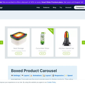 Boxed Product Carousel — Smart Slider 3 — WordPress Plugin