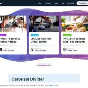 Carousel Divider — Smart Slider 3 — WordPress Plugin