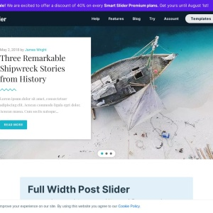 Full-width Post Slider — Smart Slider 3