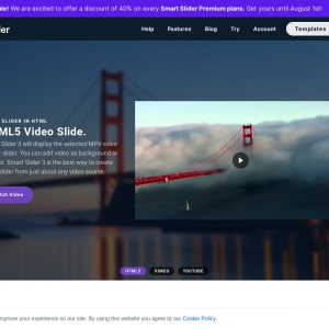 Full width video — Smart Slider 3 — WordPress Plugin