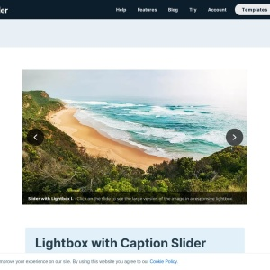 Lightbox with Caption Slider — Smart Slider 3 — WordPress Plugin