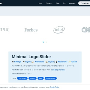 Minimal Logo Slider — Smart Slider 3 — WordPress Plugin