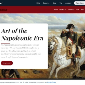 Museum website landing page — Smart Slider 3 — WordPress Plugin