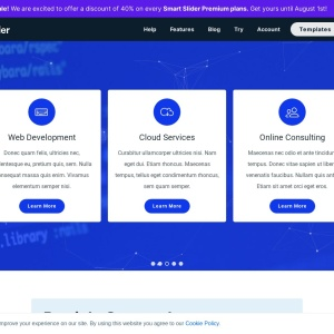 Particle Carousel — Smart Slider 3 — WordPress Plugin