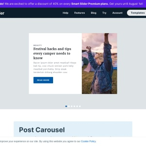 Post Carousel — Smart Slider 3 — WordPress Plugin