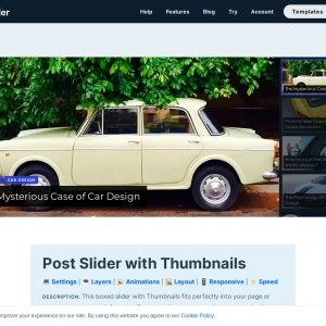 WordPress Post Slider with Thumbnails — Smart Slider 3 — WordPress Plugin