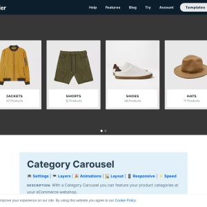 Product Category Carousel — Smart Slider 3 — WordPress Plugin